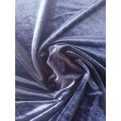 Tecido Veludo Plush Cor Dark Blue