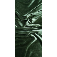 Tecido Veludo Plush Cor Verde Militrar