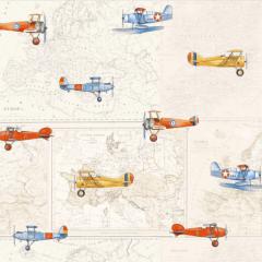 Tecido de Parede Aviões Wall Decor Karsten