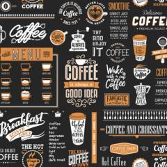 Tecido de Parede Café Expresso Wall Decor Karsten