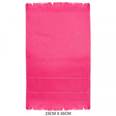 Toalha Social Para Bordar Com Franja Rosa Pink 1355 Slim Lisa