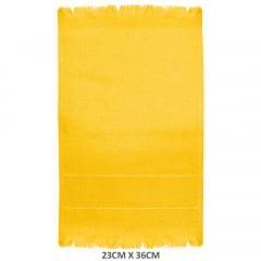 Toalha Social Para Bordar Com Franja Amarelo Girassol 190 Slim Lisa