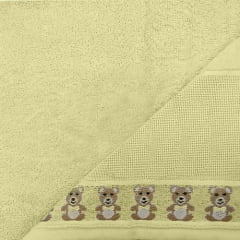 Toalha banho Baby Teddy Amarelo para Bordar  Karsten