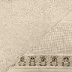 Toalha de Banho Baby Teddy  Bege para Bordar Karster