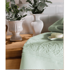 Toalha Banho Felpudo Jacquard Softart Verde