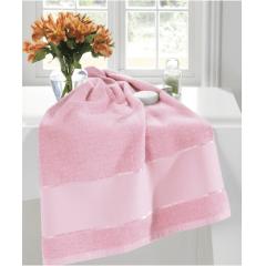 Toalha Banho Felpudo Multi Arte III Rosa