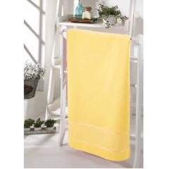 Toalha Banho  Velour Para Bordar Bella Amarelo