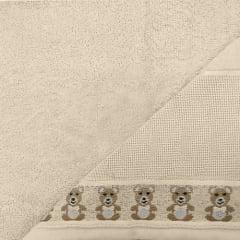 Toalha Lavabo Baby Teddy  Bege para Bordar  Karsten