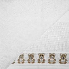 Toalha Lavabo Baby Teddy  Branca para Bordar  Karsten