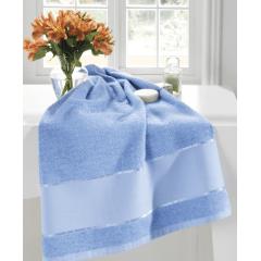 Toalha Lavabo Felpudo Multi Arte III Azul Bebê