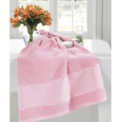 Toalha Lavabo Felpudo Multi Arte III Rosa Bebê