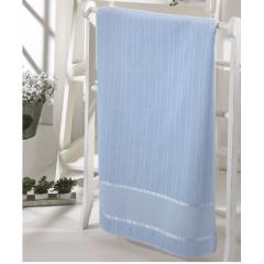 Toalha Lavabo Velour Para Bordar Bella  Azul Bebê
