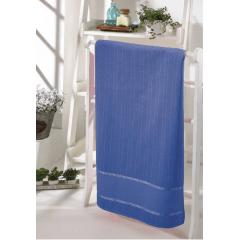 Toalha Lavabo Velour Para Bordar Bella Azul Marinho