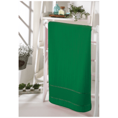 Toalha Lavabo Velour Para Bordar Bella  Verde