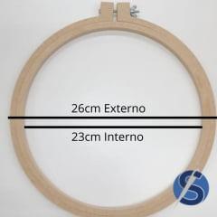 Bastidor MDF Com Tarraxa 26 cm de Diâmetro