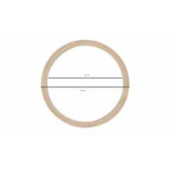 Bastidor MDF Sem Tarraxa 34 cm de Diâmetro