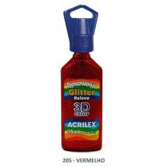 Dimensional Glitter Relevo 3D Color Acrilex  205 35ml