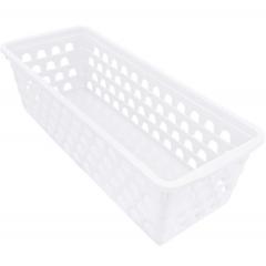 Cesto Organizador Multiuso Retangular Comprido Branco