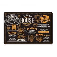 Jogo Americano Coffee  House 6 unidades