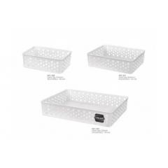 Kit Cesto Organizador Multiuso Branco