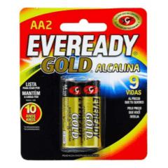 Pilha Energizer Alcalina Gold AA2