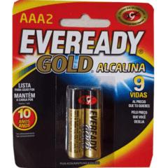 Pilha Eveready Alcalina Gold AAA2