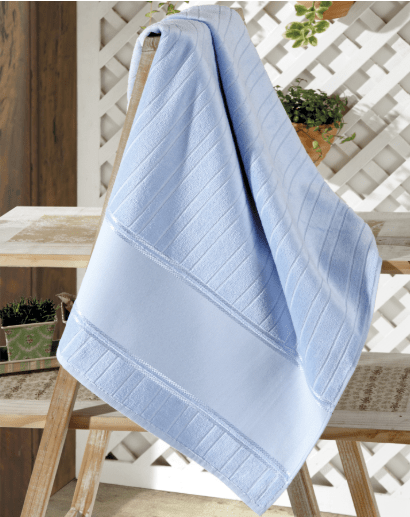 Toalha Banho Velour  Artesanalle Azul Bebê