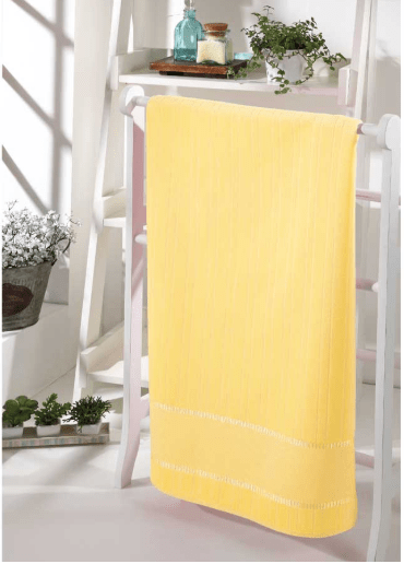 Toalha Banho Velour Amarelo
